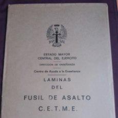 Militaria: LÁMINAS FUSIL DE ASALTO CETME. MODELOS B Y C. 1976 - 34 LAMINAS ESTADO MAYOR DEL EJERCITO - COMPLETO. Lote 217749206