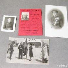 Militaria: CARNET Y FOTOGRAFIAS DEL GOBERNADOR MILITAR DE SANTANDER CANDIDO FERNANDEZ ICHASO - VITORIA. Lote 218062332