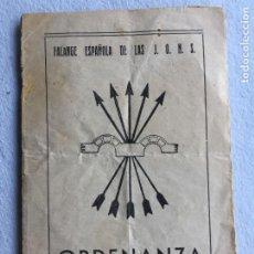 Militaria: ORDENANZA FALANGE ESPAÑOLA DE LAS J.O.N.S.. Lote 218217475