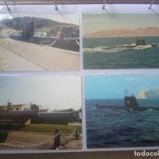 Militaria: LOTE 4 SUBMARINOS.DOS FOTOGRAFÍAS ORIGINALES,DATADAS EN 1999 Y DOS POSTALES.. Lote 218257520