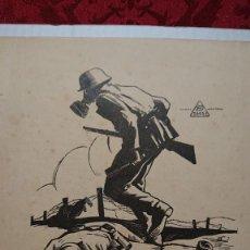 Militaria: ANUNCIO PUBLICIDAD MILITAR ARTILLERIA - DAGSA MASCARA ANTI-GAS-. Lote 218271745