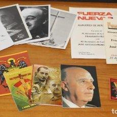 Militaria: LOTE ARTICULOS FRANCISCO FRANCO FRANQUISMO DICTADURA: CALENDARIOS, RECORDATORIOS, PROGRAMAS.... Lote 218558062
