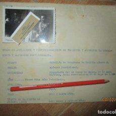 Militaria: INFORME MILITAR PARA NOBRAMIENTO ALFEREZ DE LEGION EN GUERRA CIVIL 1938 EN BURGOS. Lote 219179608