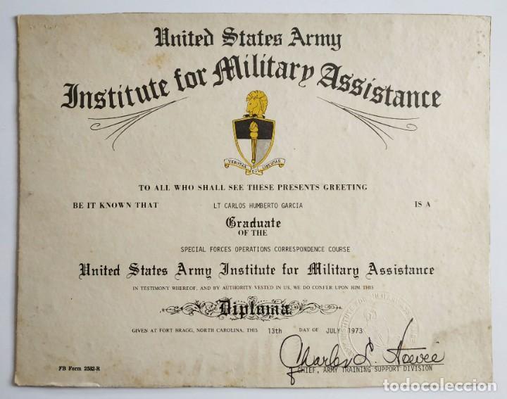 Certificado De Curso Realizado En Fort Braggs U Comprar Propaganda Militar Y Documentos Militares En Todocoleccion 219443332