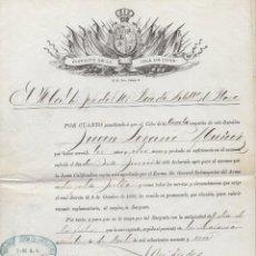 Militaria: ASCENSO A SARGENTO EN LA ISLA DE CUBA. 1891.. Lote 220079336