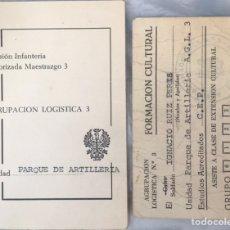 Militaria: DIVISION INFANTERIA MOTORIZADA MAESTRAZGO 3 - AGRUPACION LOGISTICA 73 PARQUE DE ARTILLERIA. Lote 220573751