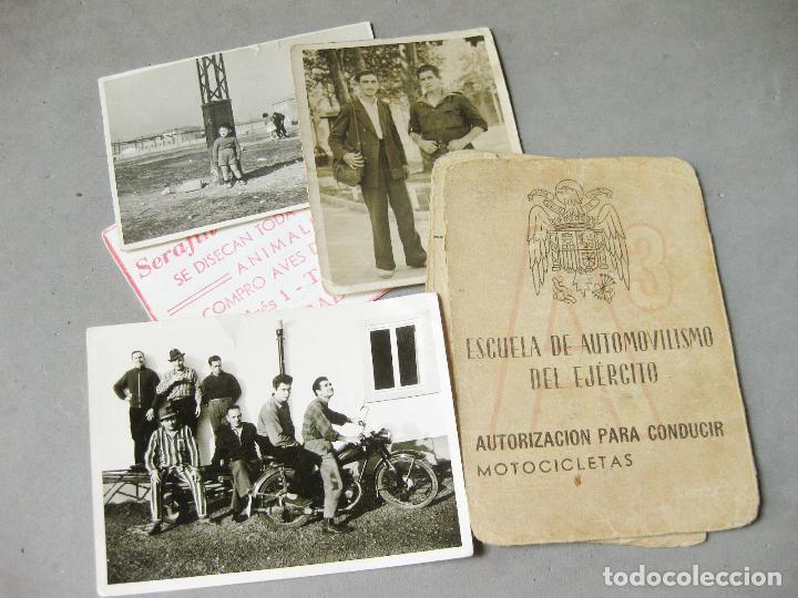 CARNET DE LA ESCUELA DE AUTOMOVILISMO DEL EJÉRCITO 1946 CABALLERÍA DRAGONES DE ALMANSA. MOTOCICLETAS (Militar - Propaganda y Documentos)