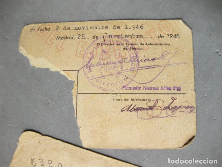 Militaria: CARNET DE LA ESCUELA DE AUTOMOVILISMO DEL EJÉRCITO 1946 CABALLERÍA DRAGONES DE ALMANSA. MOTOCICLETAS - Foto 7 - 221510595