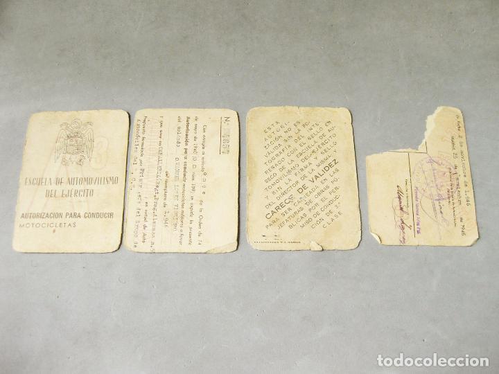 Militaria: CARNET DE LA ESCUELA DE AUTOMOVILISMO DEL EJÉRCITO 1946 CABALLERÍA DRAGONES DE ALMANSA. MOTOCICLETAS - Foto 8 - 221510595