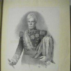 Militaria: 1859 LITOGRAFIA DEL TTE. GENERAL CORTINES DIRECTOR GENERAL DEL CUERPO DE ESTADO MAYOR. Lote 221651042