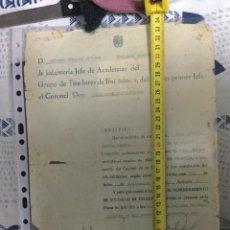 Militaria: DOCUMENTO ACADEMIA DE TIRADORES DE IFNI 1961 ASCENSO A SOLDADO DE 1. Lote 221820246