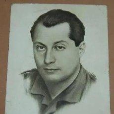 Militaria: TARJETA POSTAL JOSE ANTONIO PRIMO DE RIVERA./FALANGE ESPAÑOLA AÑOS 40 SIN CIRCULAR. Lote 221943858