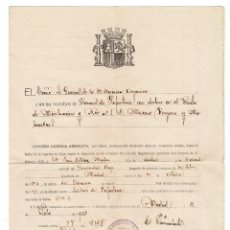 Militaria: LICENCIA ABSOLUTA. REPÚBLICA. 1933.. Lote 222374450