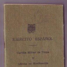 Militaria: CARTILLA MILITAR DE TROPA Y LIBRETA MOVILIZACION - AÑO 1964 - REGIMIENTO LUSITANIA 8. Lote 222412283