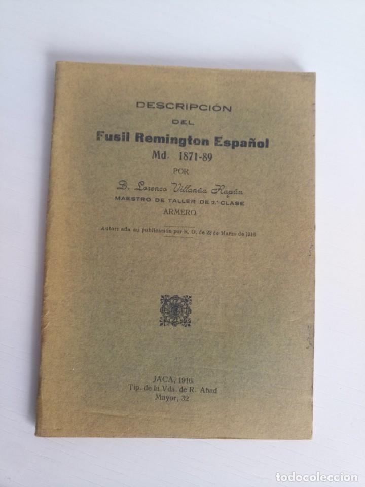 LIBRETO GUÍA FUNCIONAMIENTO FUSIL REMINGTON ORIGINAL (Militar - Propaganda y Documentos)