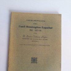Militaria: LIBRETO GUÍA FUNCIONAMIENTO FUSIL REMINGTON ORIGINAL. Lote 222537998