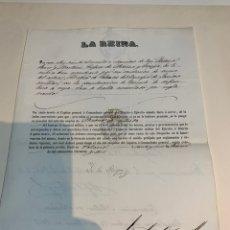 Militaria: TÍTULO OTORGADO DE MÉDICO Y CIRUGÍA EN SANIDAD MILITAR 1856. Lote 222638341