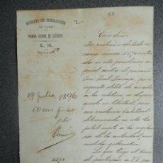 Militaria: GUERRA DE CUBA VIGILANCIA DE VECINO POR AYUDAR AL ENEMIGO AÑO 1896. Lote 222716097