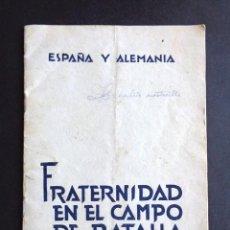 Militaria: DIVISIÓN AZUL. FRATERNIDAD EN EL CAMPO DE BATALLA. ORIGINAL 1942, ESPAÑA ALEMANIA. LAGO ILMEN. Lote 222735256