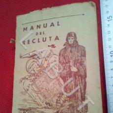 Militaria: EJERCITO DEL AIRE MANUAL DEL RECLUTA GERMAN RODRIGUEZ GONZALEZ 1966 CM5. Lote 222906903