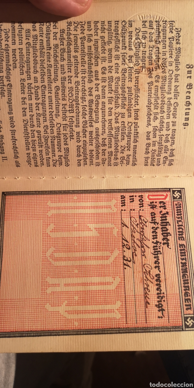 Militaria: Antiguo carnet del Partido Nacional Socialista SA - Foto 5 - 223138587