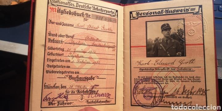 ANTIGUO CARNET DEL PARTIDO NACIONAL SOCIALISTA SA (Militar - Propaganda y Documentos)