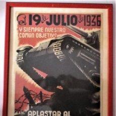 Militaria: CARTEL ENMARCADO GUERRA CIVIL. Lote 224585516