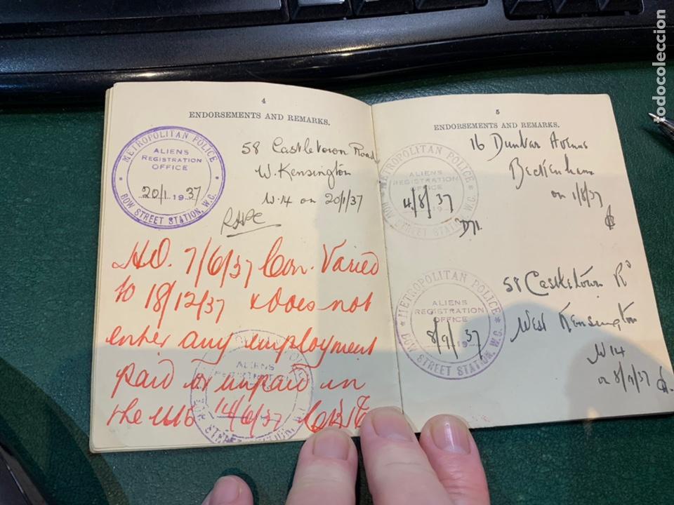 Militaria: Pasaporte Guerra Civil emitido en Reino Unido - Foto 6 - 224812628