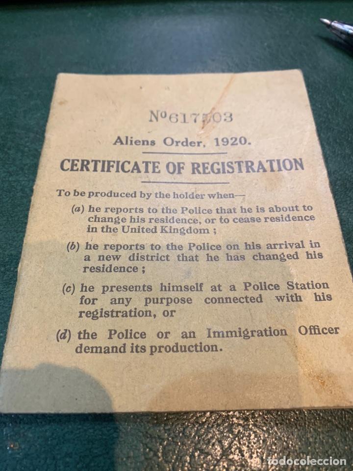 Militaria: Pasaporte Guerra Civil emitido en Reino Unido - Foto 8 - 224812628