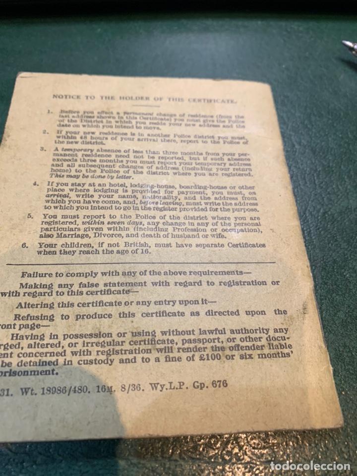 Militaria: Pasaporte Guerra Civil emitido en Reino Unido - Foto 9 - 224812628