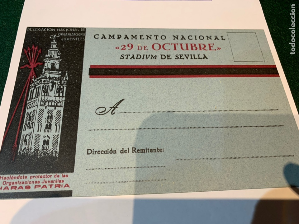 Militaria: Postal Campamento Nacional 29 Octubre Stadivm de Sevilla OJE - Frente Juventudes - Falange - - Foto 6 - 225029461
