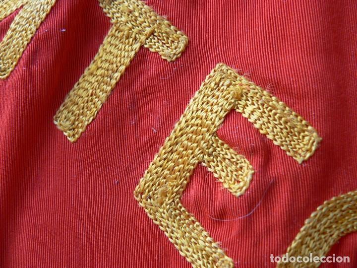 Militaria: URSS AUTENTICA BANDERA SOVIÉTICA (TAMAÑO GRANDE) Tela satinada, bordada - Foto 14 - 226123635