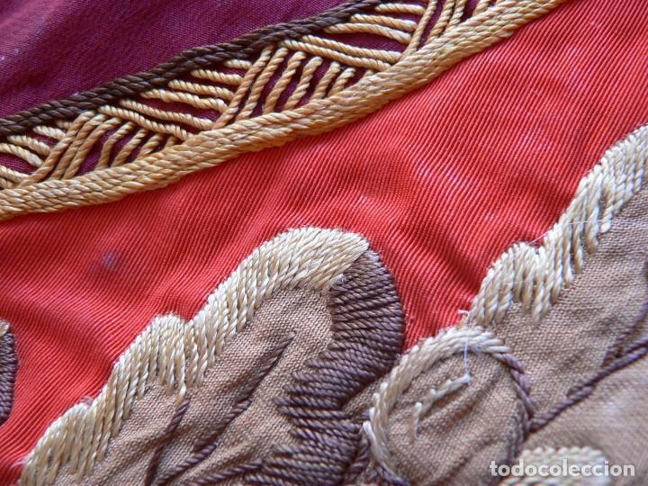 Militaria: URSS AUTENTICA BANDERA SOVIÉTICA (TAMAÑO GRANDE) Tela satinada, bordada - Foto 17 - 226123635