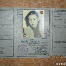 Militaria: CARNET ALEMAN BUNDESREPUBLIK DEUTSCHLAND CHICA 1957 CON FOTO. Lote 227655889