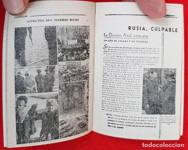 Militaria: MINI LIBRO COMUNICACION EX CAUTIVOS NUEVA INSIGINIA FALANGE POR DIOS Y POR ESPAÑA ORIGINAL D7 - Foto 3 - 228014265