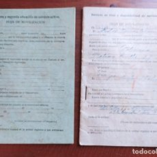 Militaria: CARTILLA MOVILIZACIÓN, CAZADORES DE ÁFRICA 1933. Lote 229539760