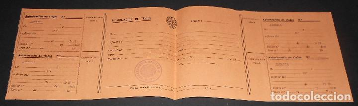 AUTORIZACION PASAJE DE TROPA. CON SELLO COMANDANCIA MILITAR DE TUI. TUY. GALICIA. AÑOS 40'S. SIN USO (Militar - Propaganda y Documentos)