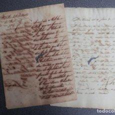 Militaria: 4 MANUSCRITOS AÑO 1855 BATALLÓN VOLUNTARIOS CABALLERÍA - VOLUNTARIO NO TIENE CABALLO. Lote 231052540