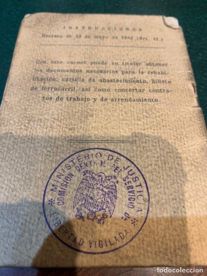 Militaria: Raro carnet de Libertad Vigilada 1941 - Foto 2 - 231099460