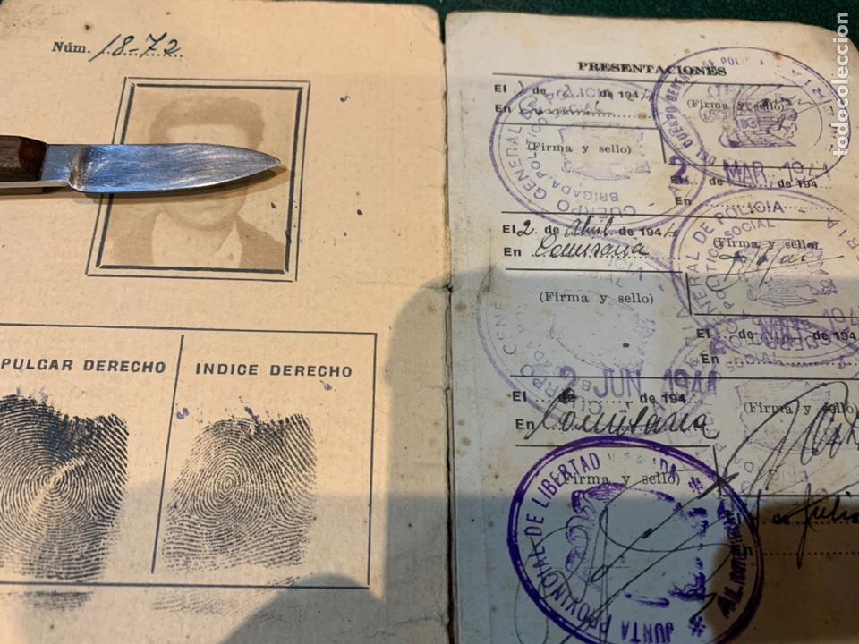Militaria: Raro carnet de Libertad Vigilada 1941 - Foto 3 - 231099460