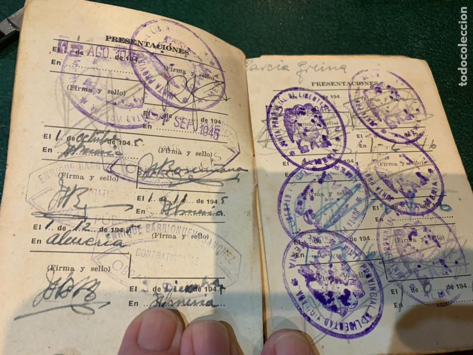 Militaria: Raro carnet de Libertad Vigilada 1941 - Foto 5 - 231099460