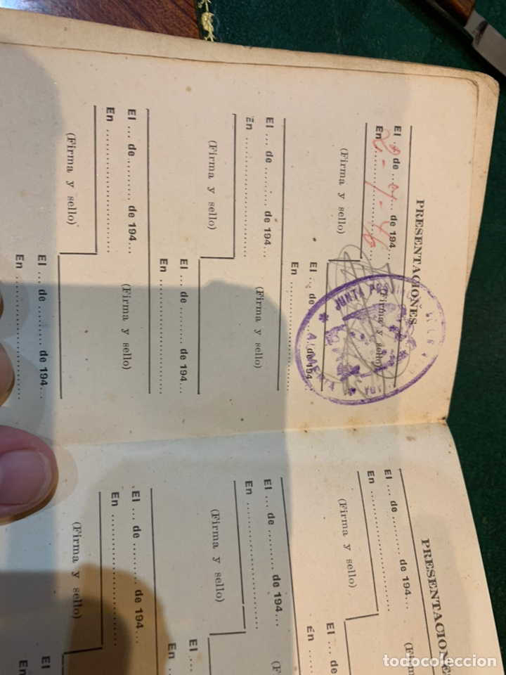 Militaria: Raro carnet de Libertad Vigilada 1941 - Foto 6 - 231099460