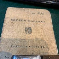 Militaria: RARO CARNET DE LIBERTAD VIGILADA 1941. Lote 231099460