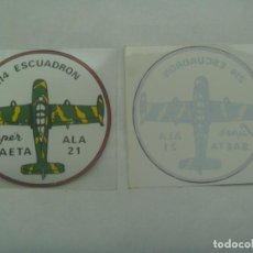Militaria: AVIACION : PEGATINA DEL 214 ESCUADRON ALA 21 SUPER SAETA . LEER DESCRIPCION. Lote 293836008