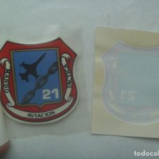 Militaria: AVIACION : PEGATINA DEL ALA 21 - MANDO AVIACION TACTICA . LEER DESCRIPCION. Lote 245072120