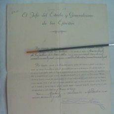 Militaria: CONCESION EMPLEO DE COMANDANTE A CAPITAN DE INFANERIA 1957. FIRMA FRANCISCO FRANCO Y CASTEJON. Lote 232043120