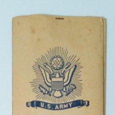 Militaria: CARPETA CON SOBRES Y FOLIOS PARA CORRESPONDENCIA EN EL FRENTE. U S ARMY, 1944. W. Lote 269259233