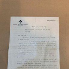 Militaria: GUERRA CIVIL / ACCION CATOLICA / CARTA FIRMADA / MANUEL APARICI NAVARRO / SIGNO: BURGOS 2 JUNIO 1937. Lote 233680395