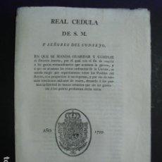 Militaria: 1799 REAL CEDULA DE S.M. SOBRE GASTOS EXTRAORDINARIOS DE GUERRA. Lote 234317070