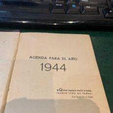Militaria: AGENDA 1944 SIN ESTRENAR PROPAGANDA ALEMANA - NUMEROSAS FOTOS DIVISION AZUL - FRANCO - HITLER - MUSS. Lote 234379410